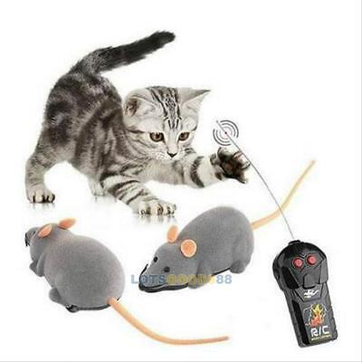 New Wireless Remote Control RC Rat Mouse For Cat Dog Pet Funny Toy Novelty Gift