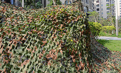 hunting Camping Military Camouflage Net Woodlands Leaves Camo netting Cover 1x1m