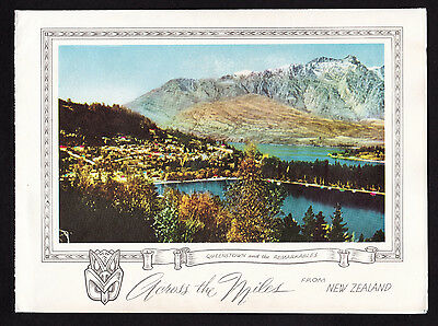vintage Wakatipu,Queenstown & Remarkables landscape New Zealand Christmas card