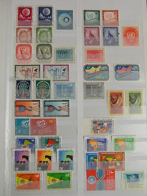 TIMBRES STAMPS ONU UNITED NATIONS UNIES Neufs + Poste Aerienne Air Mail
