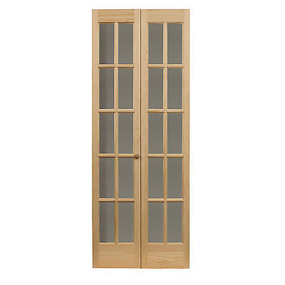 Traditional Divided Glass 36x80.5-inch Unfinished Bifold Door