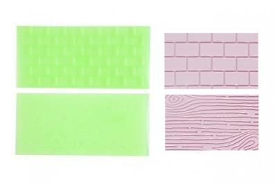 FMM Impression Mat Set 1 Tree Bark Brick Wall Icing Embossing Fondant Sugarcraft