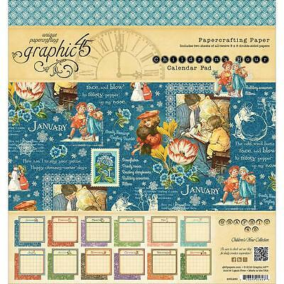 GRAPHIC 45 ~ CHILDREN'S HOUR CALENDAR PAD ~ 8x8 Paper Pad