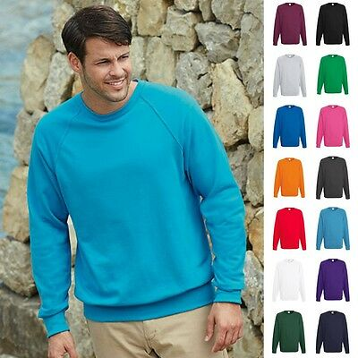 Fruit of the loom Sweatshirt Sweat Pulli Raglan Herren Pullover Lightweight