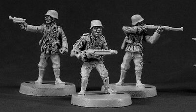 Reaper Miniatures ZOMBIE GERMAN SOLDIERS (3) Chronoscope 50020