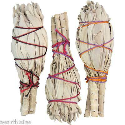 HERB: 1 x WHITE SAGE MINI SMUDGE STICK 130 mm Wicca Witch Pagan PURIFYING Reiki