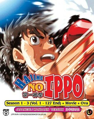 HAJIME NO IPPO Box Set | S1+S2+S3+OVA+Movie | Eps.01-127+ | 8 DVDs (M1862)-LU