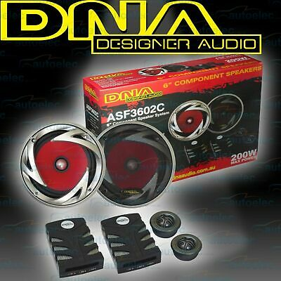 "Dna Car Audio Stereo System Componant Speakers Set 152Mm 6"" 2Way New Asf3602C"