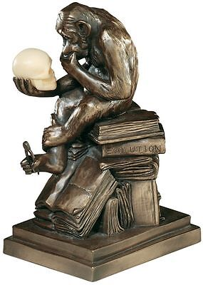 European Replica Darwin's Theory of Evolution Monkey The Thinker Ape Statue