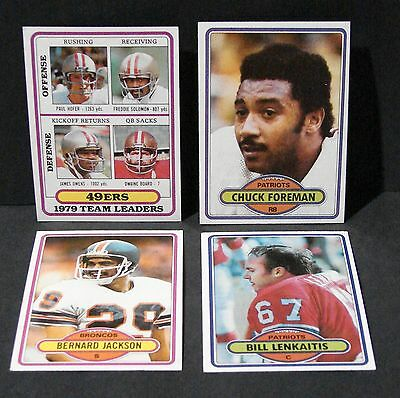 1980 TOPPS FOOTBALL 141 CARD LOT 136 DIF  Commons Stars ROOKIES   see pics