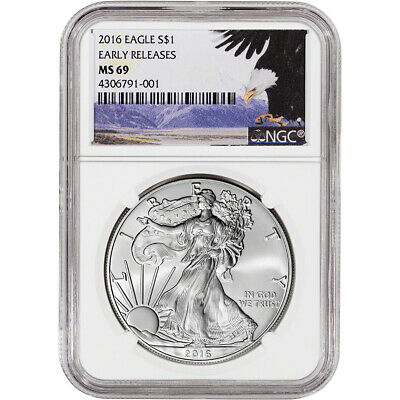 2016 American Silver Eagle - NGC MS69 - Early Releases - Bald Eagle Label