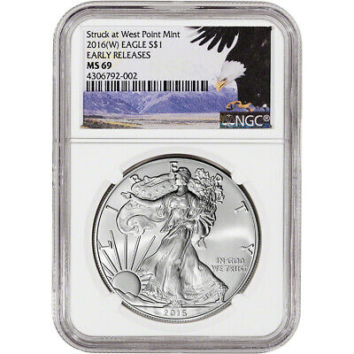 2016-(W) American Silver Eagle - NGC MS69 - Early Releases - Bald Eagle Label