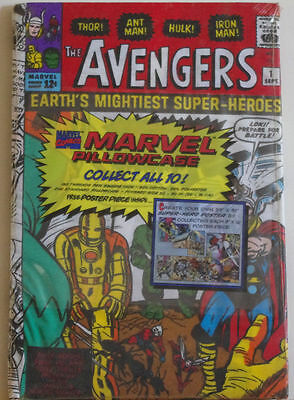 AVENGERS Pillowcase - New old stock - NM, Factory sealed, unused, MIP, 1994, 1