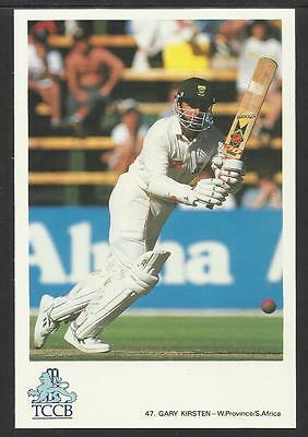 GARY KIRSTEN -- SOUTH AFRICA. OFFICIAL TCCB  POSTCARD No. 47.