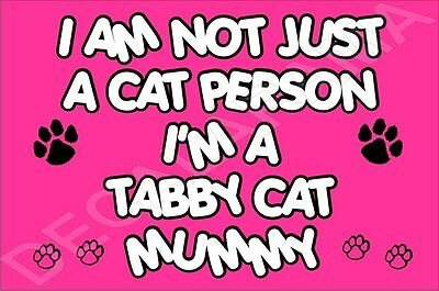 I'M NOT JUST A CAT PERSON I'M A TABBY CAT MUMMY Fridge Magnet GIFT KITTEN
