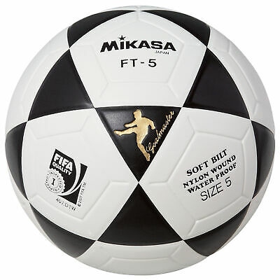 Mikasa FT-5 Pro, FIFA Inspected Foot-Volley Fussball Volleyball schwarz Gr. 5