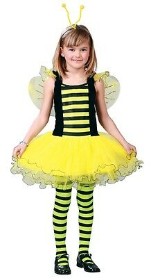 Girls Busy Bumble Bee Animal Insect Tutu Book Day Fancy Dress Costume Outfit