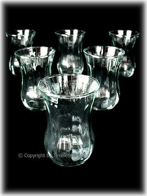 Set 6 Pcs Traditional Useable Turkish Moroccan Old Persian Eastern Tea Glasses