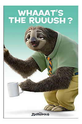 Zootropolis Flash Whats The Rush Sloth Poster New - Maxi Size 36 x 24 Inch