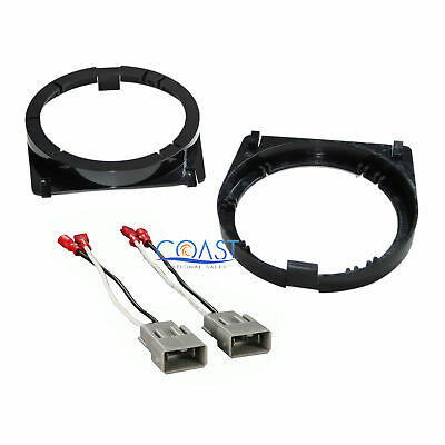 Front Door Speaker Adapter Bracket Plate & Wire Harness for Honda Accord