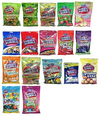 AMERICA'S ORIGINAL Chewing Gum DUBBLE BUBBLE Flavored BAG Exp.9/17+ *YOU CHOOSE*
