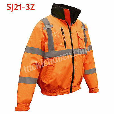 Radians Three-in-One Deluxe Bomber Jacket Safety Orange Class 3 #SJ21-3Z