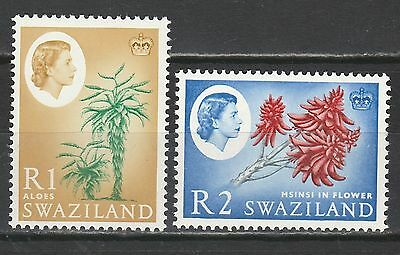 Swaziland 1962 Qeii Flowers R1 And R2 Mnh ** Top 2 Values