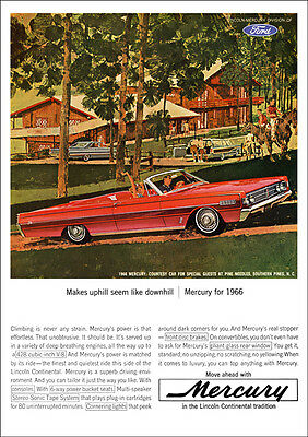 Mercury Monterey Convertible 66 Retro A3 Poster Print From Classic Advert 1966