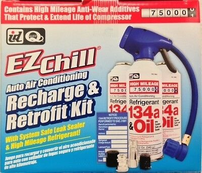 EZ Chill A/C Recharge & Retrofit Kit (Incl. 3 - 12 oz. Cans R134a & Oil)