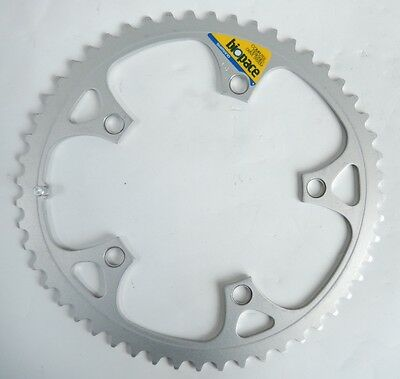 """""""nos"""" Vintage Shimano 105 Biopace Chainring 52 Aluminum 130 Bcd (14)"""