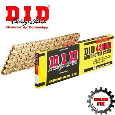 DID Gold Heavy Duty Drive Chain 428 - 134 Links (HDGG) Gold / Gold Chain