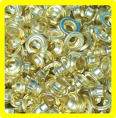 "1000 #2 Grommet Machine Press Tool Banner Grommets+Washers 3/8"" Eyelets- Brass"