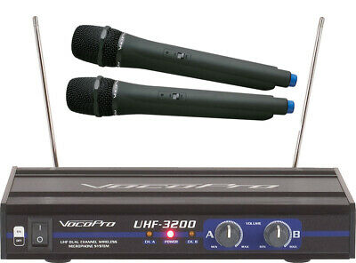 Vocopro Uhf-3200 Pro 2 Wireless Uhf Rechargeable Karaoke Microphone System