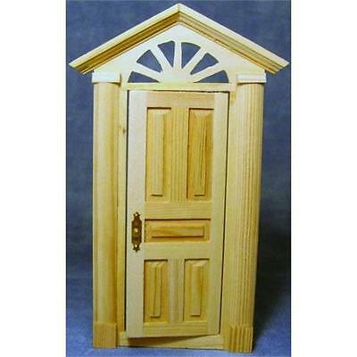 Wooden Skylight Front Door 1:12 Scale by Dolls House Emporium 155 x 72mm
