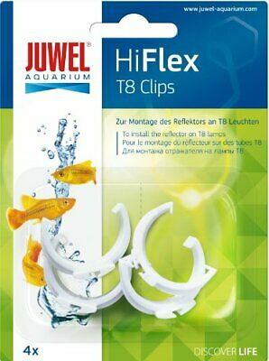 Juwel Aquarium Hiflex Spare T8 Plastic Reflector Clips Fish Tank Lighting Light
