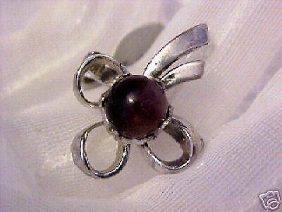 Vintage Sterling Silver Bow Ring 8.5 FERAL  CAT RESCUE