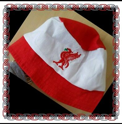 Liverpool Sun Hat/Fishermans Hat Red & White One size Childs