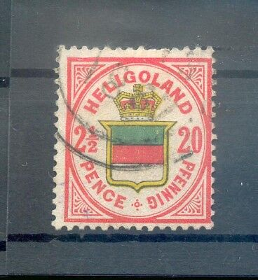 Helgoland 18f FARBE gest.+gepr. 80EUR (F3855