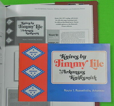 """1971 """" Knives by Jimmy Lile """" First Catalog Book"""