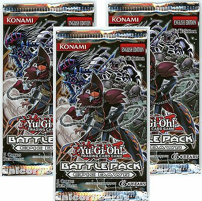 YuGiOh! Battle Pack 1: Epic Dawn UNL Edition Sealed yugioh Booster Packs x3