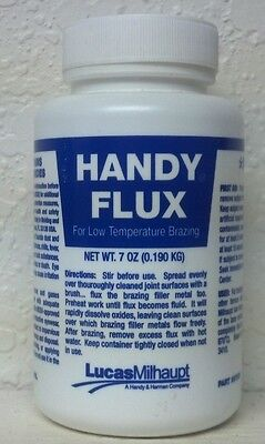 Silver Brazing Flux, HANDY FLUX, For Low-Temp Brazing, 7 oz. With Cap & Brush