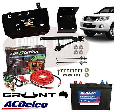 Dual Battery Tray Wiring & Battery Toyota Hilux 2005 - On Petrol & Diesel Kun26