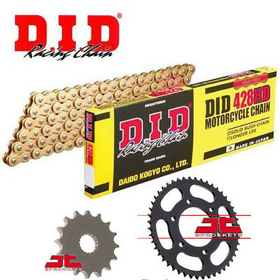 Yamaha XT125 R 2008-2011 DID Gold Heavy Duty Chain and Sprocket Kit Set