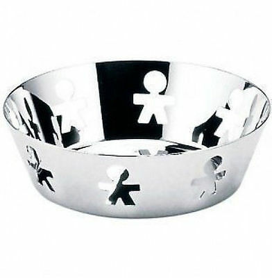 A di Alessi - AKK03 - Girotondo, Round basket, stainless steel mirror polished.