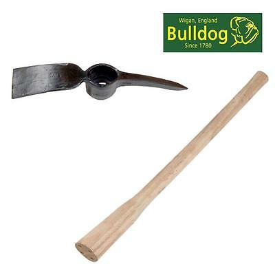 Bulldog Pick Mattock Set & Wooden Handle For Hard Soil Clay Stone Grubbing Pm5