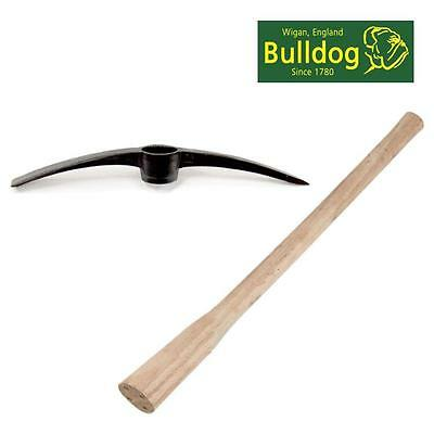 Bulldog Drop Forged Pick Axe Head & Wooden Handle Point And Chisel Ends  Pa5Set