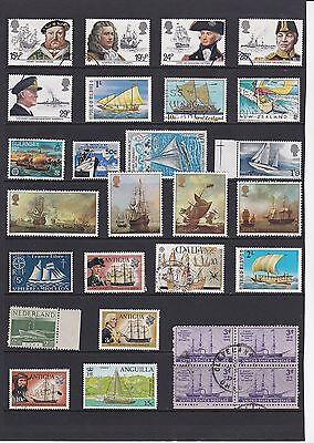 BOATS SHIPS Thematic STAMP COLLECTION Mint Used Ref:TH437
