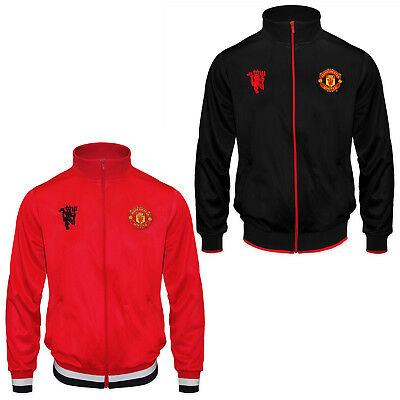 Manchester United Football Club Official Soccer Gift Mens Retro Track Jacket