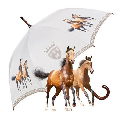 Von Lilienfeld Automatic Walking Umbrella - Crested Horses