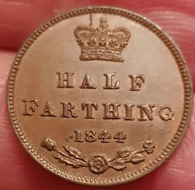 Excellent High Grade 1844 Victoria Half Farthing Sharp Detail Spink 3951